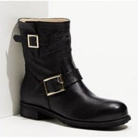 Jimmy Choo 'Youth' Short Biker Boot