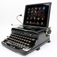USB Typewriter -- a Computer Keyboard and iPad Dock-- Royal Model O from 1945