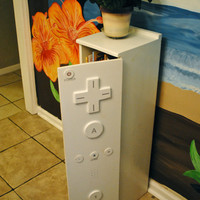 "Children's ""Wii controler"" bookcase/ cabinet with a twist"
