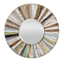 One Kings Lane - Accents We Love - Multi-Colored Wooden Mirror