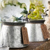 Galvanized Metal Drink Dispenser Stand