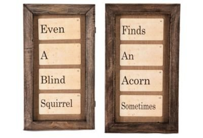 One Kings Lane - Aidan Gray - Flash Card Wall Decor, Set of 2