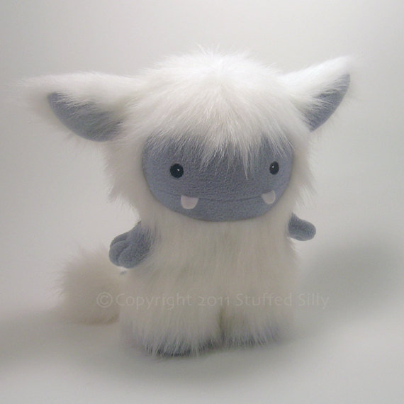 White Frost Monster Cute Plush Toy by Stuffed by stuffedsilly