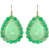 Irene Neuwirth Mint Chrysoprase Drop Earrings | Barneys New York