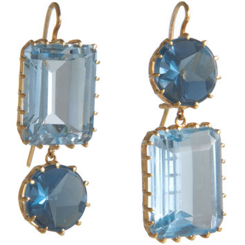 Renee Lewis Blue Topaz & Aquamarine 2-Point Earrings | Barneys New York