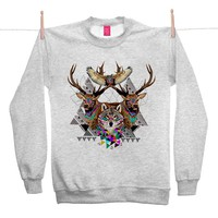 Street Market — Ohh Deer - Forest Friends - Grey Sweater By Kris Tate