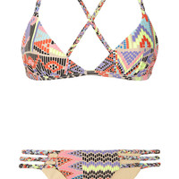 Mara Hoffman|Maya printed triangle bikini |NET-A-PORTER.COM