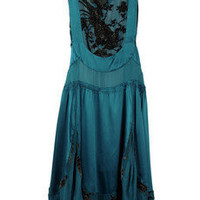 Roberto Cavalli Silk devoré dress - 70% Off Now at THE OUTNET