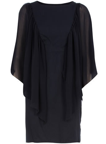 Ink chiffon sleeve dress - Clothing - Dorothy Perkins
