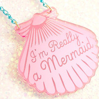 Mermaid Jewelry // A Mermaid gave me this Pink by ilovecrafty
