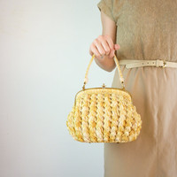 1950s Handbag / 50s Basket Purse by jessjamesjake on Etsy