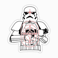 Stormtrooper  target Star wars Sticker
