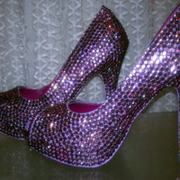 Colored Crystal Sparkle Shoes High Heels by sillydi on Etsy