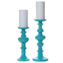 Z Gallerie - Mariposa Pillar Holder - Aquamarine