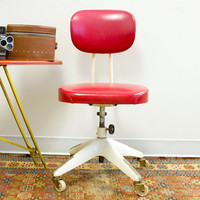 Okamura Retro Industrial Swivel Desk Chair by oldnewhouse on Etsy