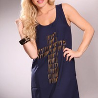 Navy Sleeveless Cross Spike Decor Party Dress @ Amiclubwear sexy dresses,sexy dress,prom dress,summer dress,spring dress,prom gowns,teens dresses,sexy party wear,women's cocktail dresses,ball dresses,sun dresses,trendy dresses,sweater dresses,teen clothin