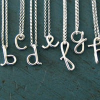 Sterling Silver Custom Initial Necklace Personalized Monogram Necklace gift Valentines Day Personalized Bridesmaid Gifts Girlfriend gifts