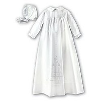 Christening Robe, Slip & Hat by Sarah Louise