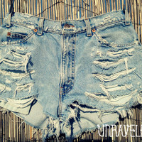 High Waisted Denim Shorts (MEDIUM)
