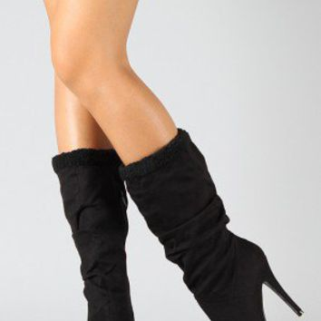 Paprika Onyx-S Shearling Slouchy Knee High Boot