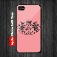 Juicy Couture Rubber Pink iphone 4, 4S Case