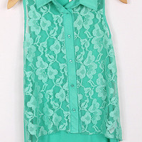 Pre-Order Jade Lace Button up tank from Monica&#x27;s Closet Essentials