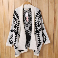Aztec Tribal Oversized Cardigan
