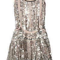 Anna Sui|Silk-tulle sequin-embellished dress|NET-A-PORTER.COM