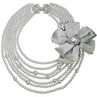 Juliet Necklace, Grey - Lee Angel Jewelry - Polyvore