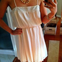 Forever 21 Cream Chiffon dress