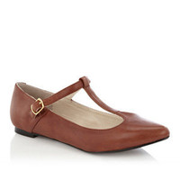 Oasis All Shoes | Tan T-Bar Leather Shoe | Womens Fashion Clothing | Oasis Stores UK