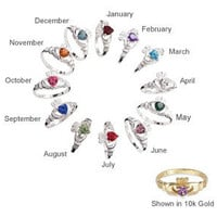 Rings - Birthstone Claddagh Ring