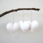 White Heart Eco Felt Ornament  Handmade  Valentine's by SweetPB