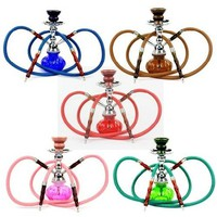 2 Hoses Pumkin Hookah - Color Varies