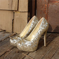Icicle Chalet Sequin Heels, Sweet Country Inspired Shoes
