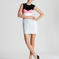 DIANE von FURSTENBERG Tamika Color Block Koto Crepe Dress - Dresses - Apparel - Women&#x27;s - Bloomingdale&#x27;s