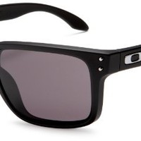 Amazon.com: Oakley Men's Holbrook Rectangular Sunglasses,Matte Black Frame/Warm Grey Lens,one size: Oakley: Clothing