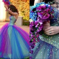 Stock tulle Bridal Gown Prom Ball Evening Wedding Dress Quinceanera Party US6-16