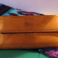 vintage light brown leather exterior Buxton wallet. Valentines day gift for her. dead stock