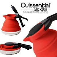 Cuissential SlickBoil: Collapsible Silicone Tea Kettle (Red)