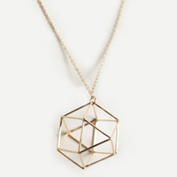 New Geometry Hexagon Necklace - $12.00 : ThreadSence, Women&#x27;s Indie &amp; Bohemian Clothing, Dresses, &amp; Accessories