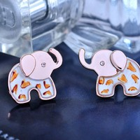 Colorful Elephant Shape Studs