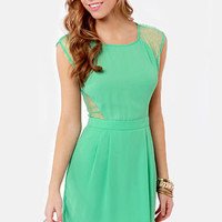 My Good Sides Seafoam Green Lace Dress