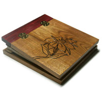 Wood Photo Album Flower - Holds 5x7 Photos - READY TO SHIP