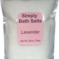 Lavender bath salt with organic oils