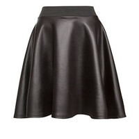 Cameo Rose Black Scuba Skater Skirt