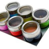 Magnetic Multicoloured Spice Jars | Storage | Home Accessories | 19.99 - The Contemporary Home Online Shop