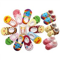 Amazon.com: 5 Pair LOCOMO Baby Infant Toddler Boy Girl Cartoon Animal Unisex Anti Slip Skid Socks / Age 1-3 Years Old / Size 9-15 cm / FBA012: Clothing