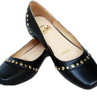 Christian Louboutin Black Leather Flat - $189.00