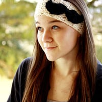 Mustache Headband/Ear-Warmer